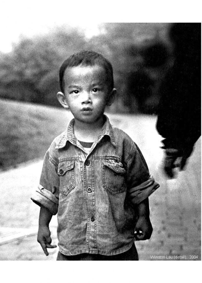 Winston Lau, </span><span><em>Young Boy (detail), 2004</em>, </span><span>Photography