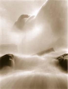 Tom Baril, </span><span><em>Bridal Veil Falls, 2001</em>, </span><span> Toned Silver Print, 34  x 26 inches