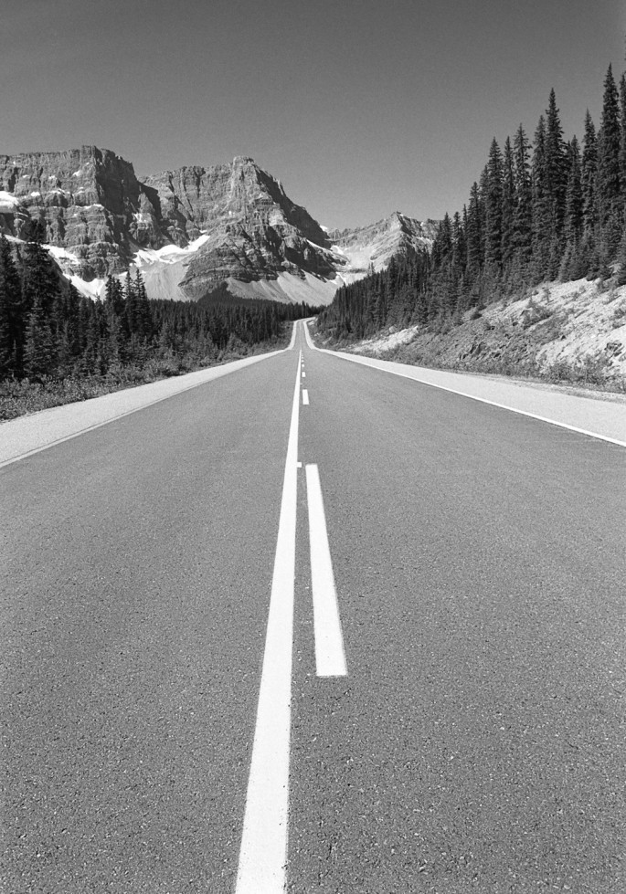 "Mark McCarvill, </span><span><em>Icefield Parkway, Banff National Park, 2002</em>, </span><span>Carbon-black pigment ink print, 8""x10"""