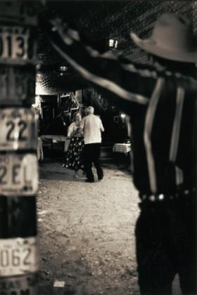 Beverley Abramson, </span><span><em>Seniors, Arkey Blue's Silver Dollar Bar, Texas, 2003</em>, </span><span>toned silver gelatin print 16'x20&quot;