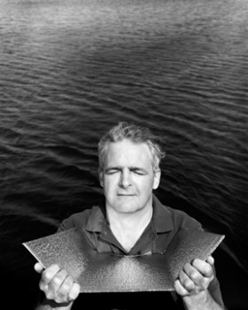 Dr. Marc Garneau - Astronaut / CEO, </span><span><em>Canadian Space Agency ©2004</em>, </span><span>Silver Fibre, 24x20 inches