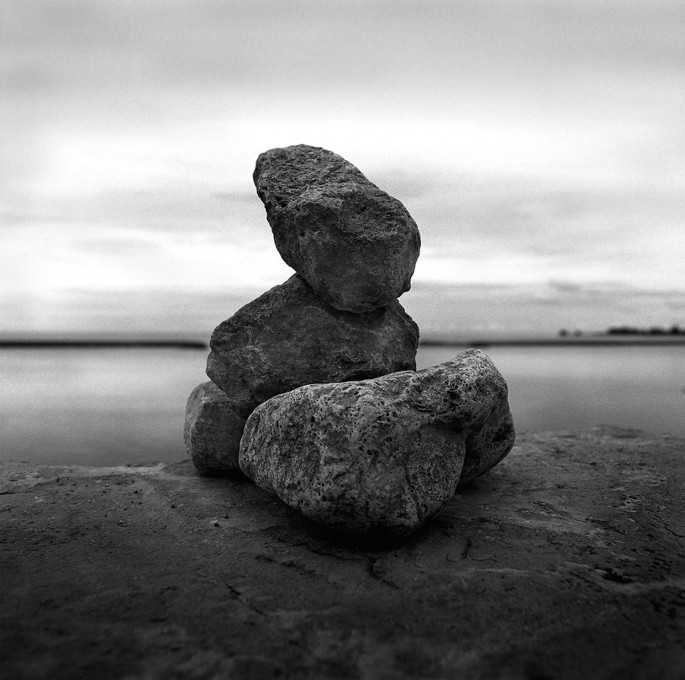 Brian Anderson, </span><span><em>Rock Pile, 2005</em>, </span><span>silver gelatin print ,  15  x 15