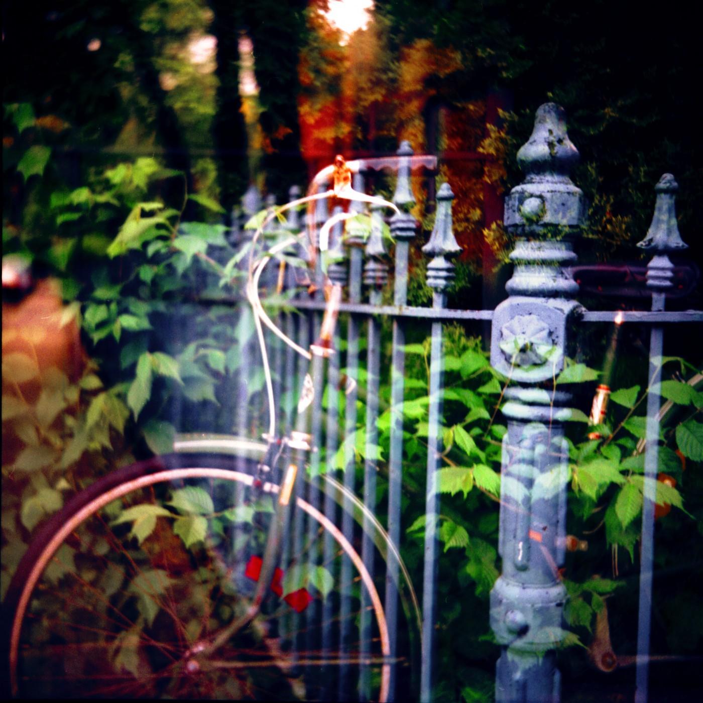 Rannie Turingan, </span><span><em>Bike and Fence, 2004</em>, </span><span>Custom Giclee Print 12 x12