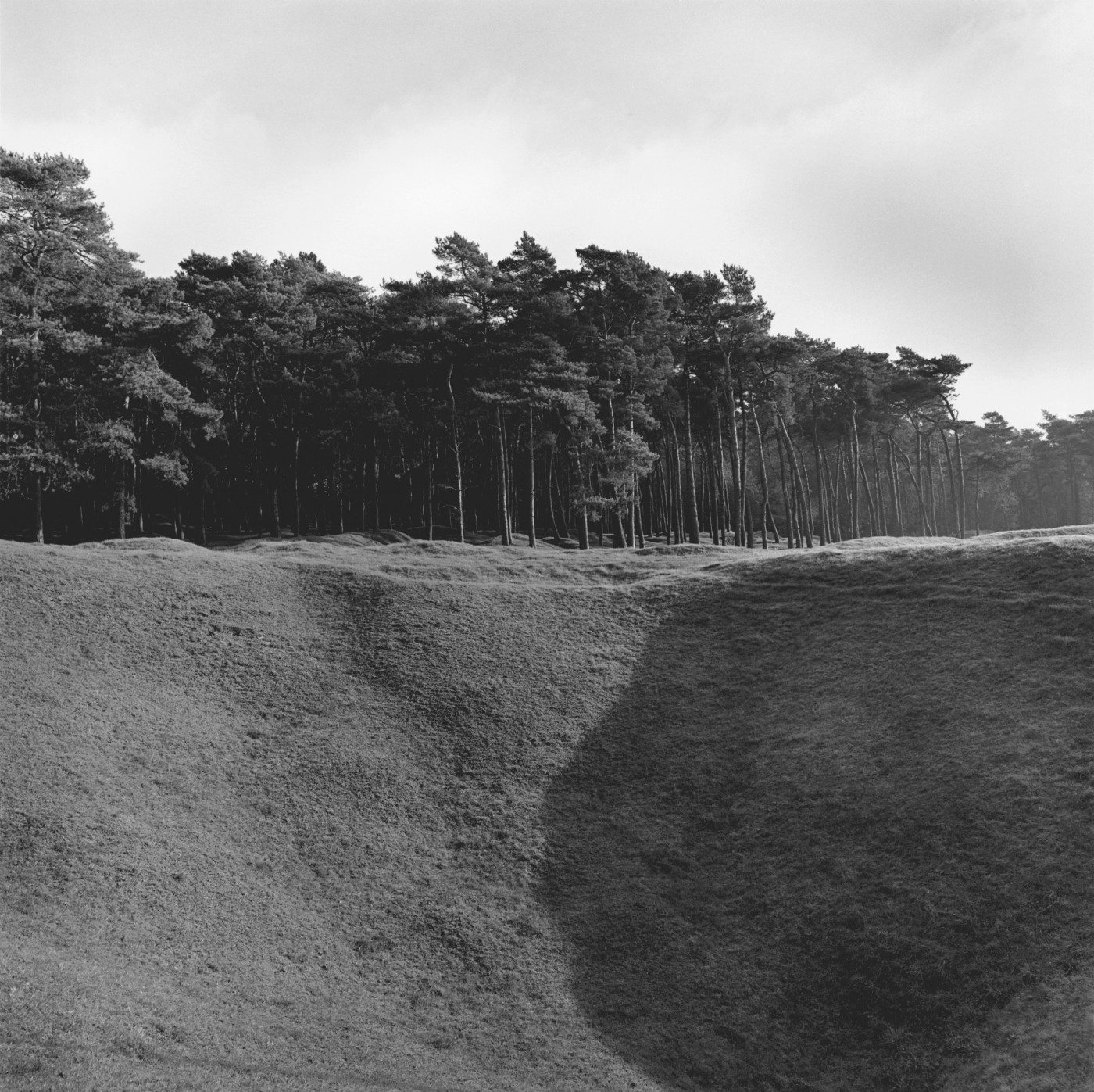 Peter MacCallum, </span><span><em>The Broadmarsh Mine Crater on the Preserved Battlefield, 2005</em>, </span><span>silver print  14
