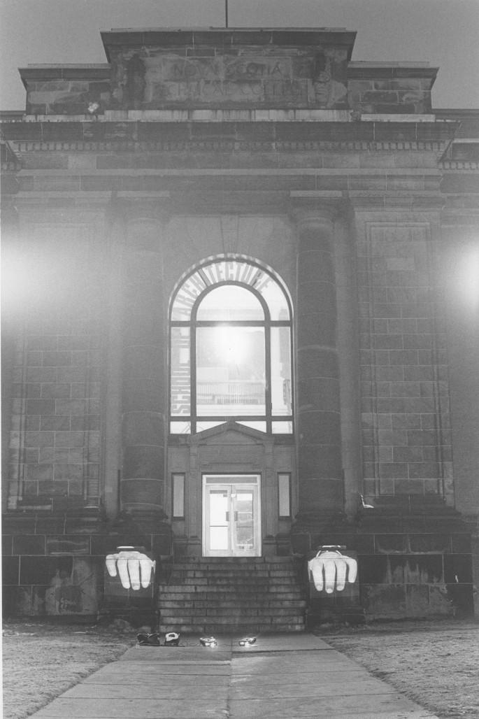 Krysztof Wodiczko, </span><span><em>School of Architecture, Halifax, 1981</em>, </span><span>,   x