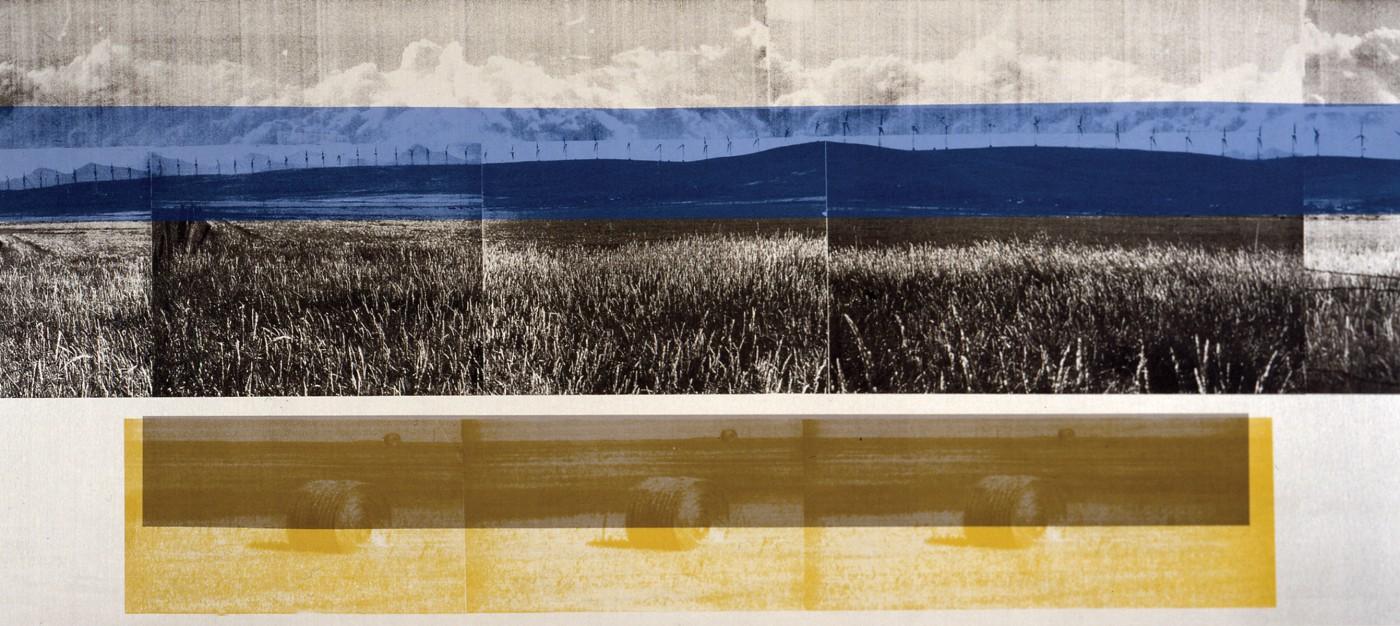 Sandi Ralph, </span><span><em>Cowley Ridge, 2005</em>, </span><span>Screenprint, 24