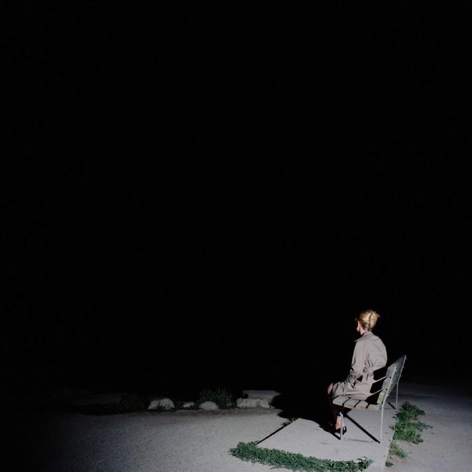 Karin Bubas, </span><span><em>Woman on Bench, 2006</em>, </span><span>C-print, 60 x 60 inches