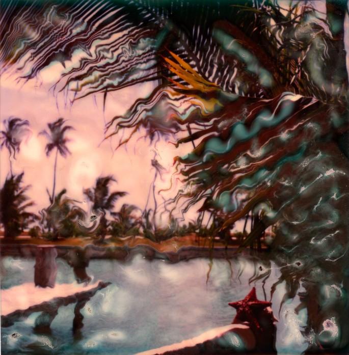 Sheila Jonah, </span><span><em>Antiguan Sky</em>, </span><span>20x20 inches