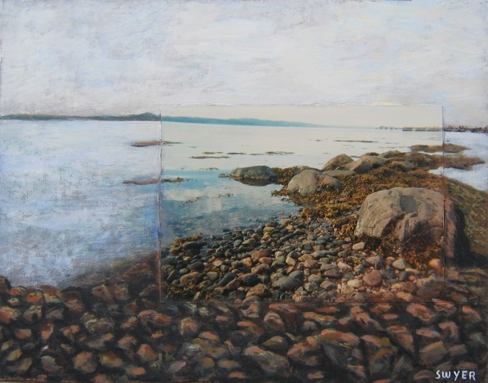 Aubrey Swyer, </span><span><em>Low Tide, 2007</em>, </span><span>Photo Painting Acrylic, 8 inches by 10 inches