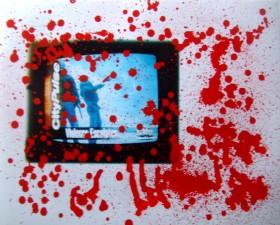Greg Majster aka Stro1, </span><span><em>Violence Escalates 2, 2000</em>, </span><span>16 X 20 inch