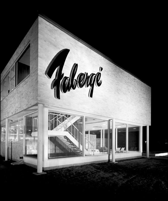 Panda Associates, Canadian Architectural Archives, </span><span><em>Fabergé Plant, 1950</em>, </span><span>silver gelatin print, 36 x 30