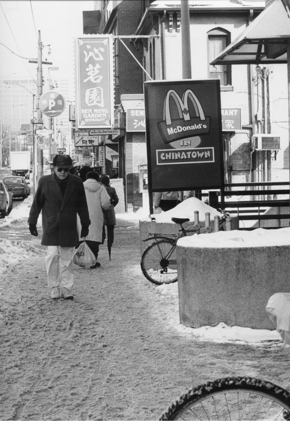 Guinevere Pura, </span><span><em>McDonald's in China Town</em>, </span><span>14 X 11