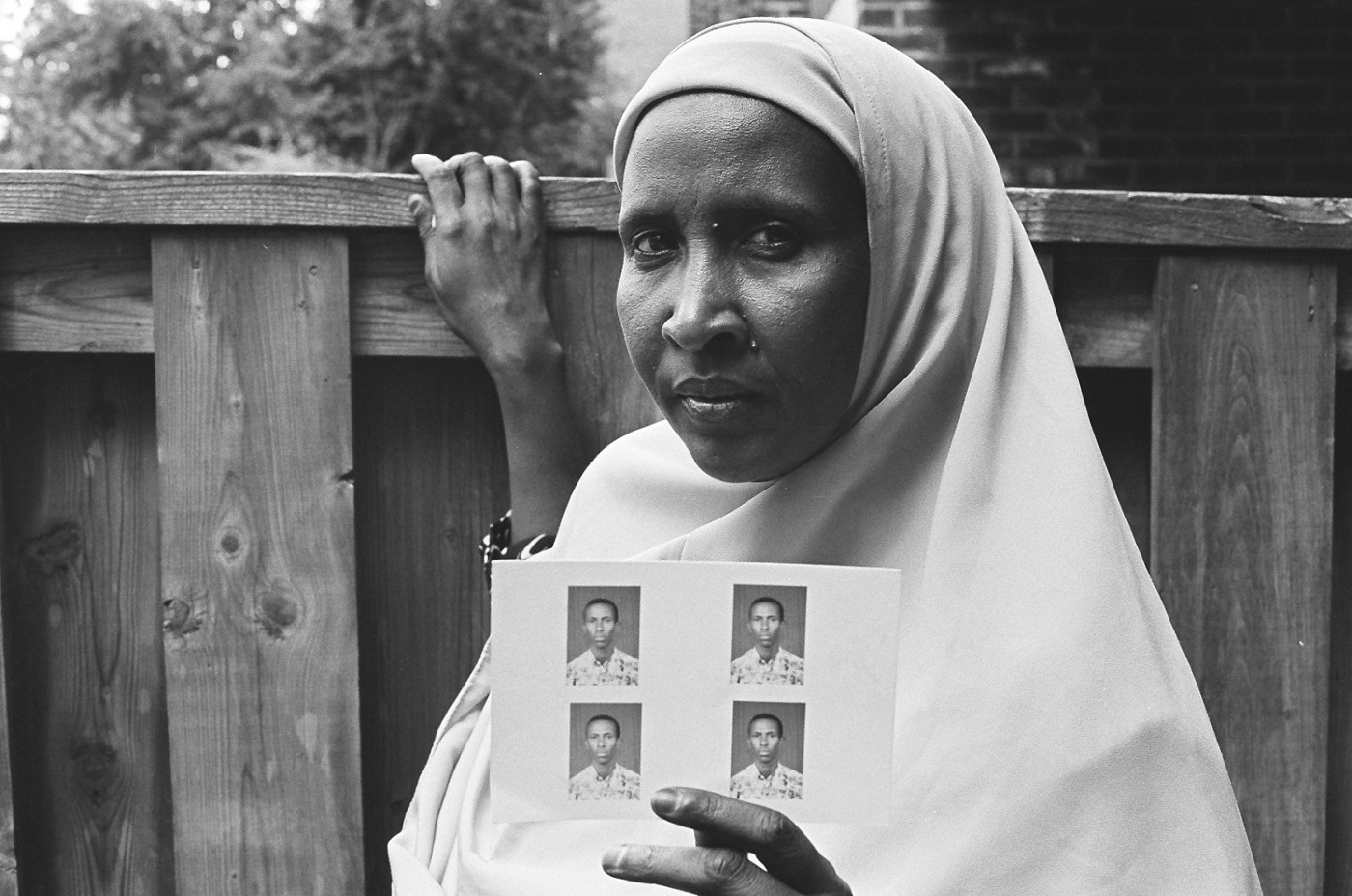 Anna Hill for Settlement Arts, </span><span><em>Habibo Waiting For Her Son Hassan Who Lives As A Refugee In Kenya, 2008</em>, </span><span>Gelatin silver print   16 inch x 20 inch