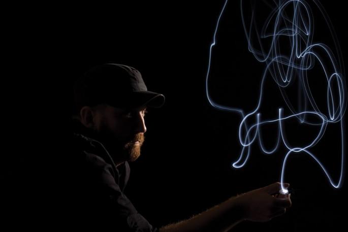 Steve Carty, </span><span><em>Lightpainting Series - Jon Todd</em>, </span><span>2009 creative direction: Steve Carty