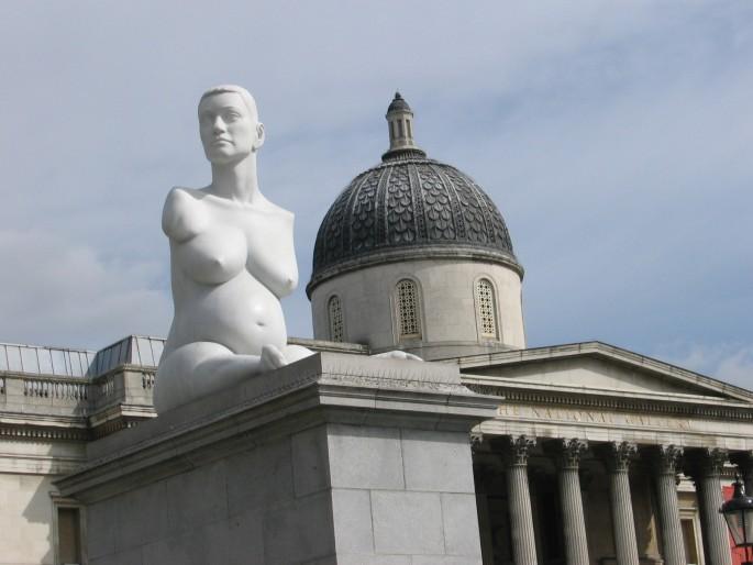 Jill Le Clair , </span><span><em>View of Trafalgar Square</em>, </span><span>2006