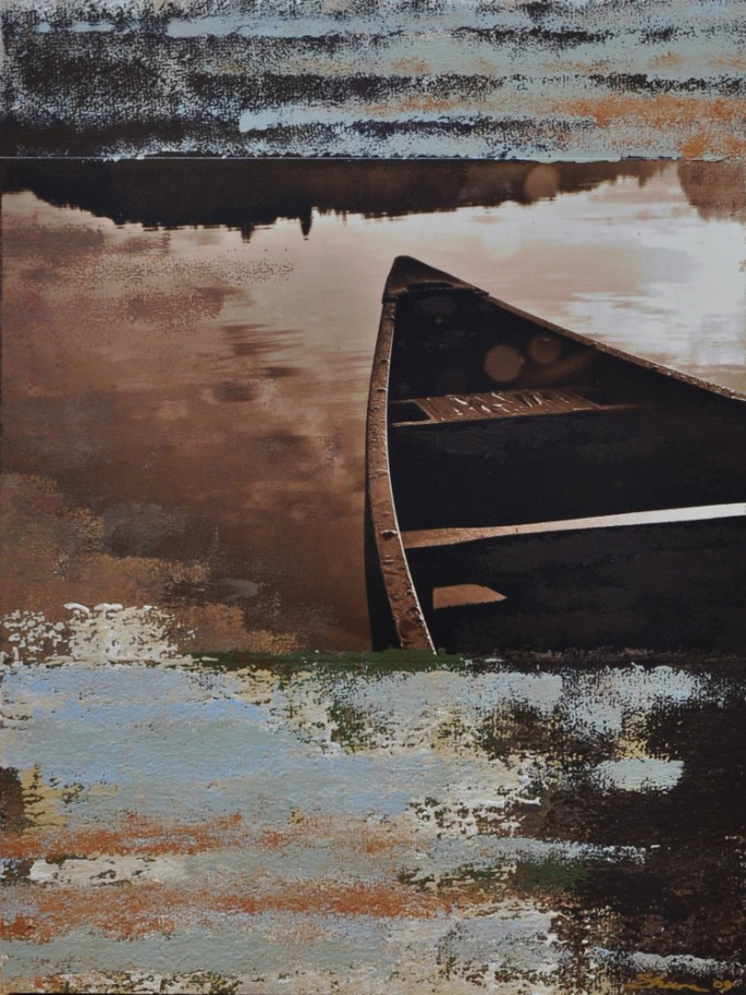 Shuna Heeney, </span><span><em>Dew Covered Canoe</em>, </span><span>2010