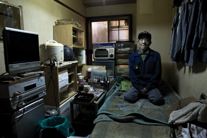 Carlos Cazalis, </span><span><em>Akira Iwamoto, 73 from Osaka on welfare. Immediate family dead</em>, </span><span>2009