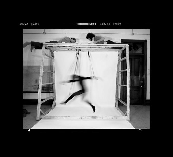 Suzy Lake, </span><span><em>Choreographed Puppet #4-5, Performance/ photography</em>, </span><span>1976 Courtesy of Paul Petro Contemporary Art.