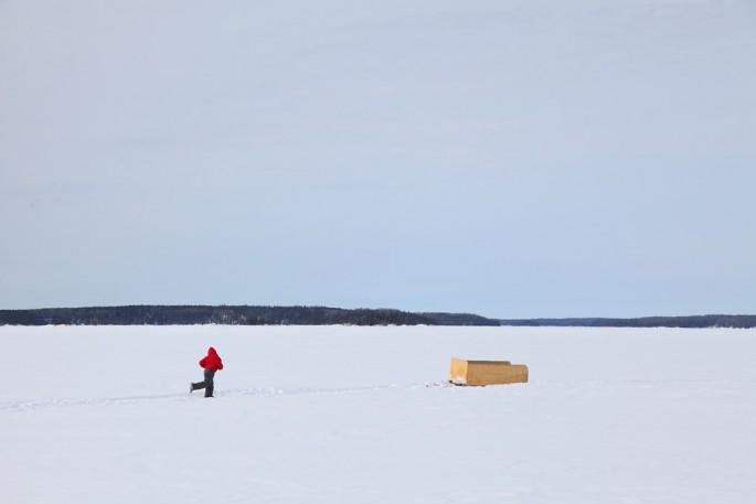 Glen Baxter, </span><span><em>Sandy Lake</em>, </span><span>2011