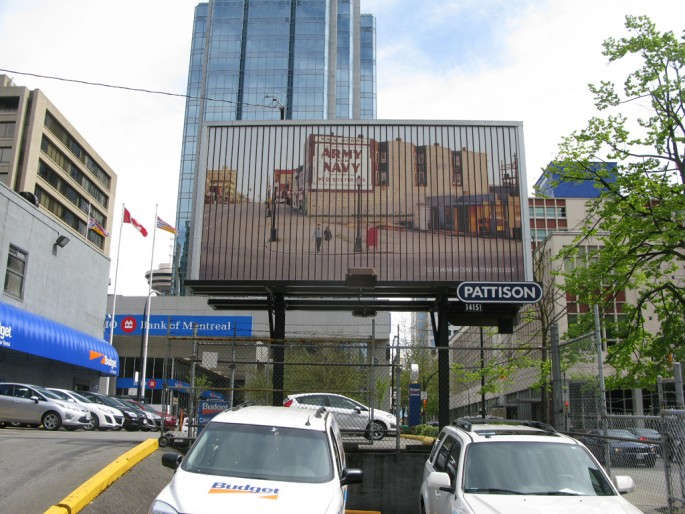 Fred Herzog, </span><span><em>Cross- Canada Billboards</em>, </span><span>2011 Image credit Jamie Bennett