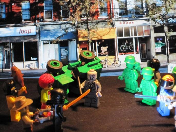 Jacqueline Bruner, </span><span><em>G20 riots on Queen Street</em>, </span><span>2010