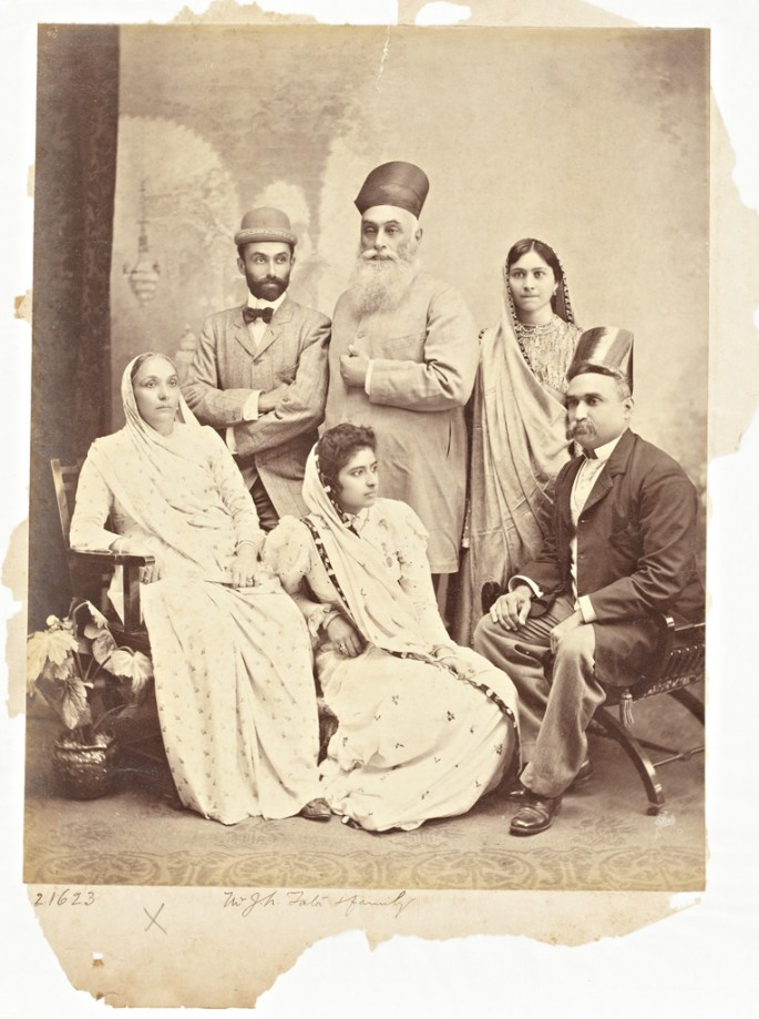 C. Schultz, Staff Photographer, Raja Deen Dayal &amp;amp; Sons., </span><span><em>Mr. J. N. Tata &amp;amp; Family, Mumbai, Maharashtra, India</em>, </span><span>22 March 1898 On loan from the Peabody Essex Museum, PH81.52.