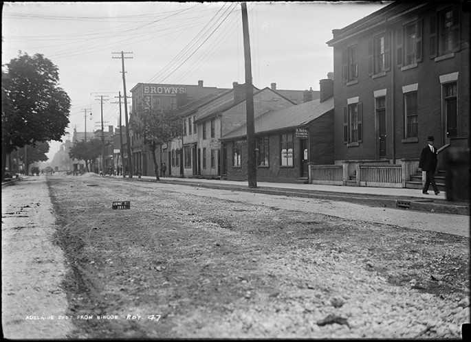Arthur S. Goss, </span><span><em>Track</em>, </span><span>June 7, 1911.  City of Toronto Archives, series 372, subseries 58, item 47.