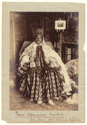 Francis W. Joaque (French), </span><span><em>West African King</em>, </span><span>c1890 Courtesy of Archive of Modern Conflict, London