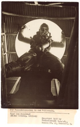 Willi Ruge (German), </span><span><em>World record parachute jump</em>, </span><span>1932 Courtesy of Archive of Modern Conflict, London