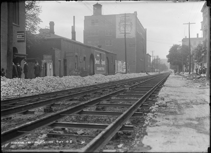Arthur S. Goss, </span><span><em>Track</em>, </span><span>June 7, 1911 City of Toronto Archives, series 372, subseries 58, item 48