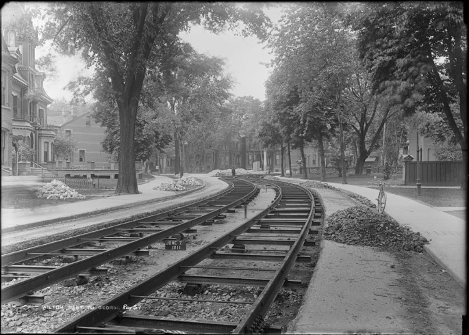 Arthur S. Goss, </span><span><em>Track</em>, </span><span>June 7, 1911 City of Toronto Archives, series 372, subseries 58, item 51