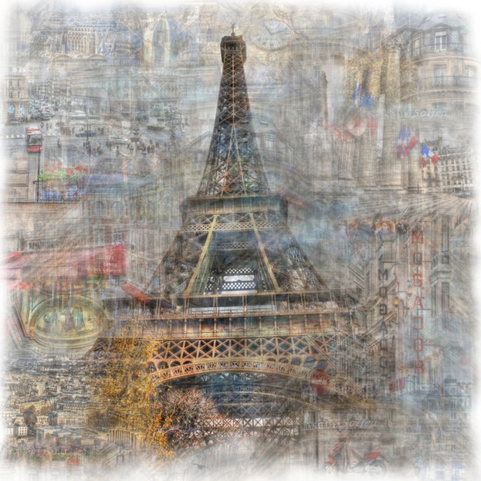 Christopher Cabral, </span><span><em>ParisScape 1</em>, </span><span>2008