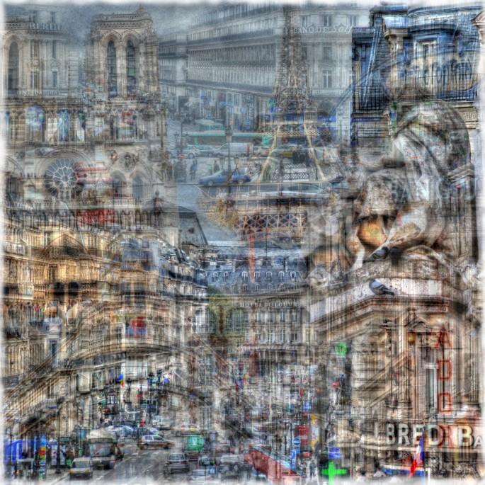 Christopher Cabral, </span><span><em>ParisScape 2</em>, </span><span>2008