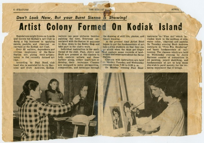 Newspaper article from Kodiak Bear, April 3, 1953., </span><span>