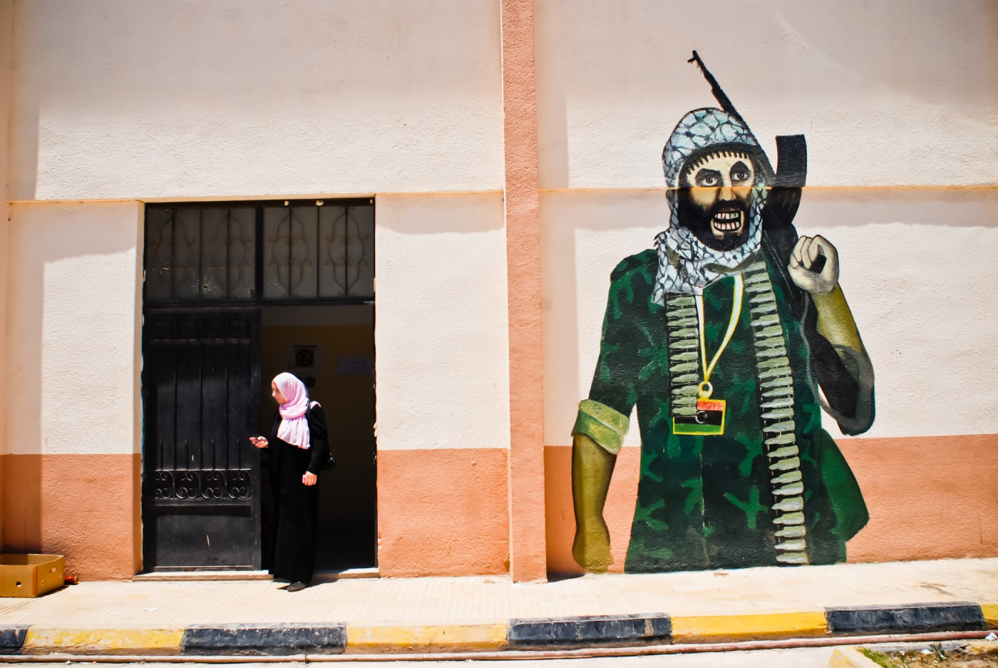 Samer Muscati, </span><span><em>Casting her ballot</em>, </span><span>2012