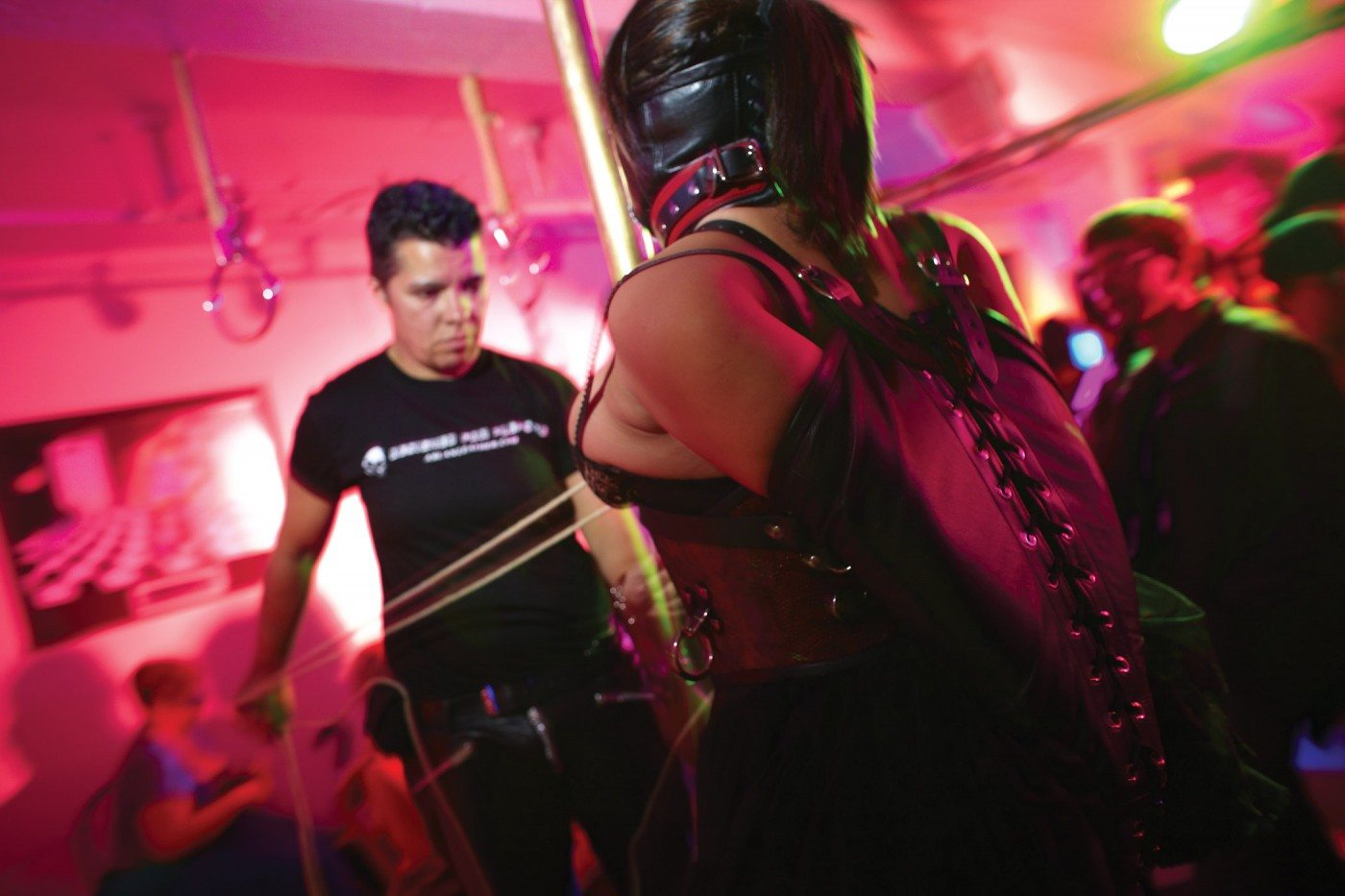 Geoff George, </span><span><em>Carey Gray and partner at Morpheous Bondage Extravaganza</em>, </span><span>2010 Marc S. Bonham Centre for Sexual Diversity Studies Sexual Representation Collection