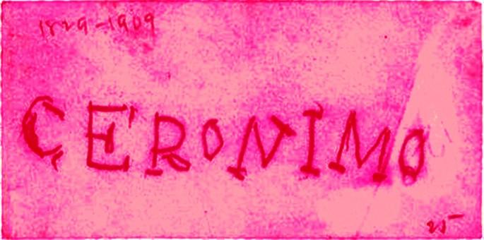 Dana Claxton, </span><span><em>Geronimo in Pink</em>, </span><span>2013