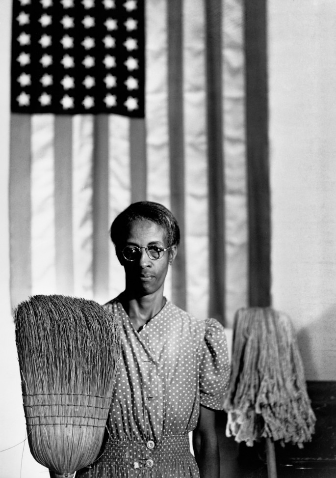 Gordon Parks, </span><span><em>American Gothic, Washington, D.C.</em>, </span><span>1942  Copyright The Gordon Parks Foundation. Courtesy The Gordon Parks Foundation.