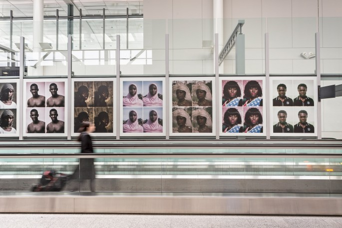 Installation view of Émilie Régnier &lt;em&gt;Passport&lt;/em&gt; at Pearson International Airport, </span><span> Photo: Toni Hafkenscheid