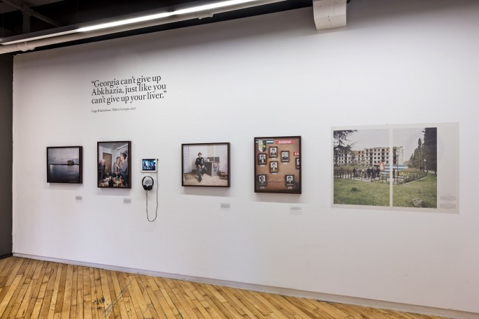 Installation view, </span><span><em>The Sochi Project: An Atlas of War and Tourism in the Caucasus</em>, </span><span> Photo © Toni Hafkenscheid