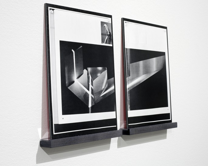 Colin Miner, </span><span><em>Installation view of available light (#10-11)</em>, </span><span>2013