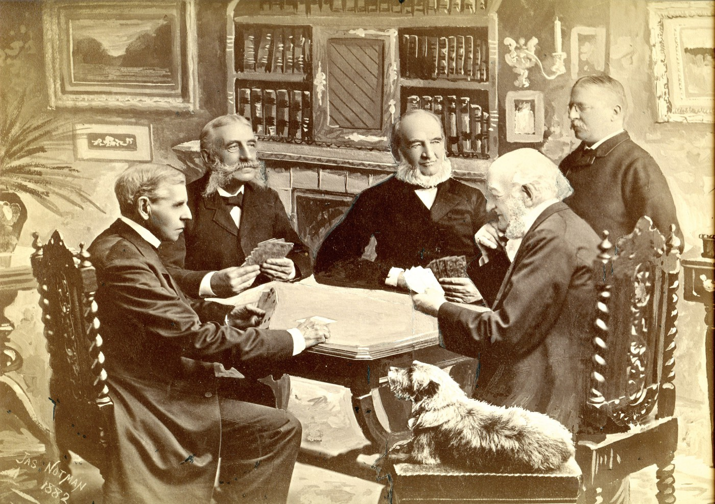 James Notman, </span><span><em>Group of Five Men and a Dog Playing Cards</em>, </span><span>1882 From the collection of Robert Wilson, Photographic Historical Society of Canada.