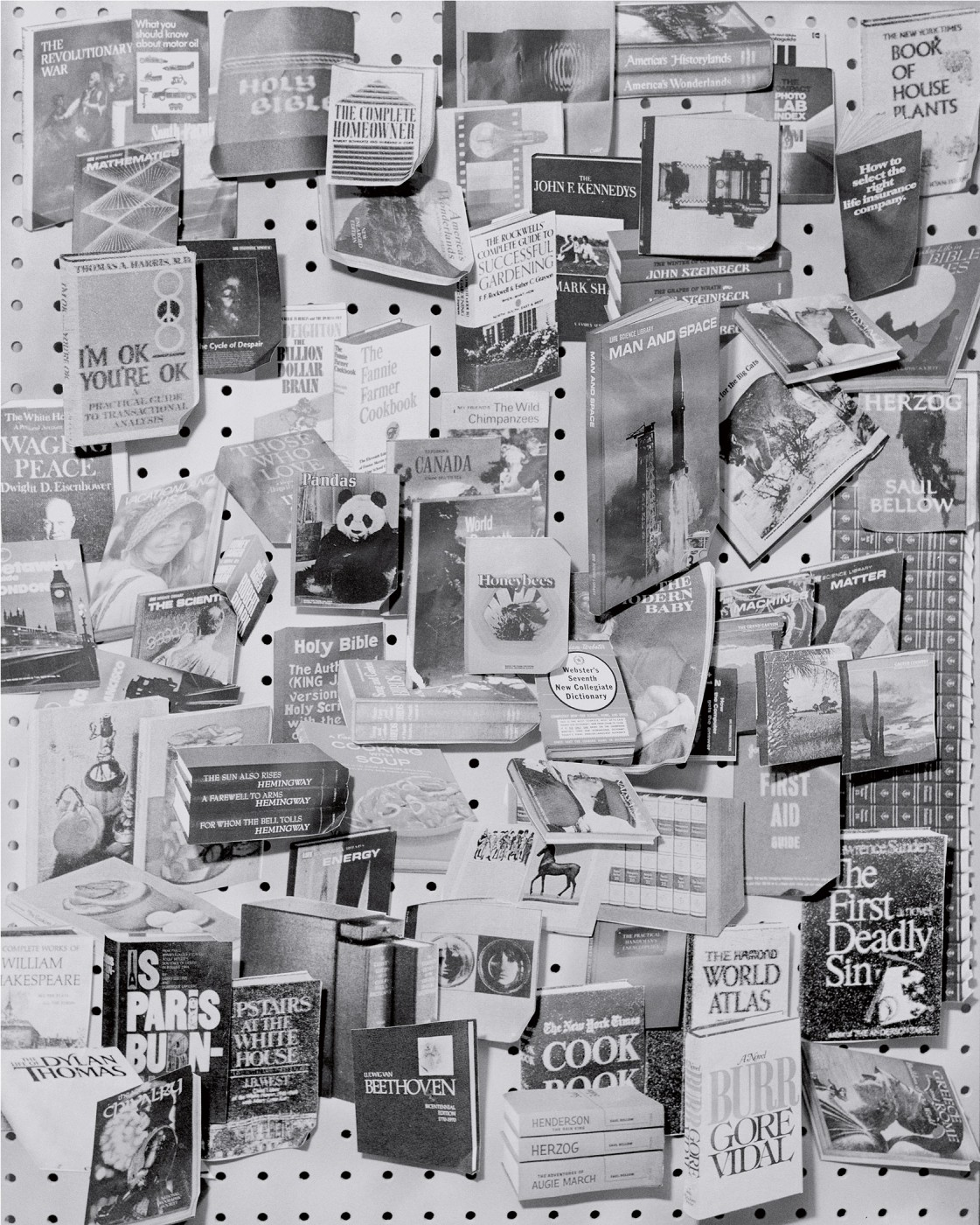 Sara Cwynar, </span><span><em>Man and Space (Books 2)</em>, </span><span>2013 Courtesy of the artist and Cooper Cole Gallery