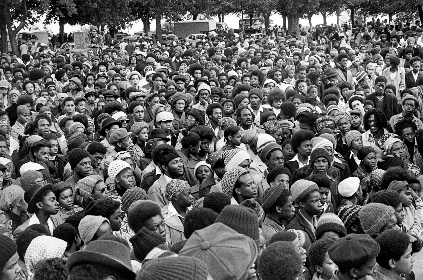 Vanley Burke, </span><span><em>Africa Liberation Day, Handsworth Park</em>, </span><span>1977 Courtesy of the artist