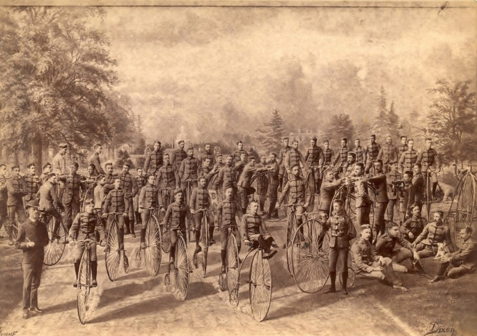 S. J. Dixon, </span><span><em>The Wanderers Bicycle Club of Toronto</em>, </span><span>1884 From the Cycling Photographica collection of Lorne Shields, Thornhill, ON.