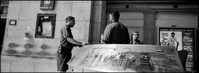 Larry Towell, </span><span><em>Red Caps, Union Station, Toronto</em>, </span><span>2013 Courtesy of the artist/Magnum Photos