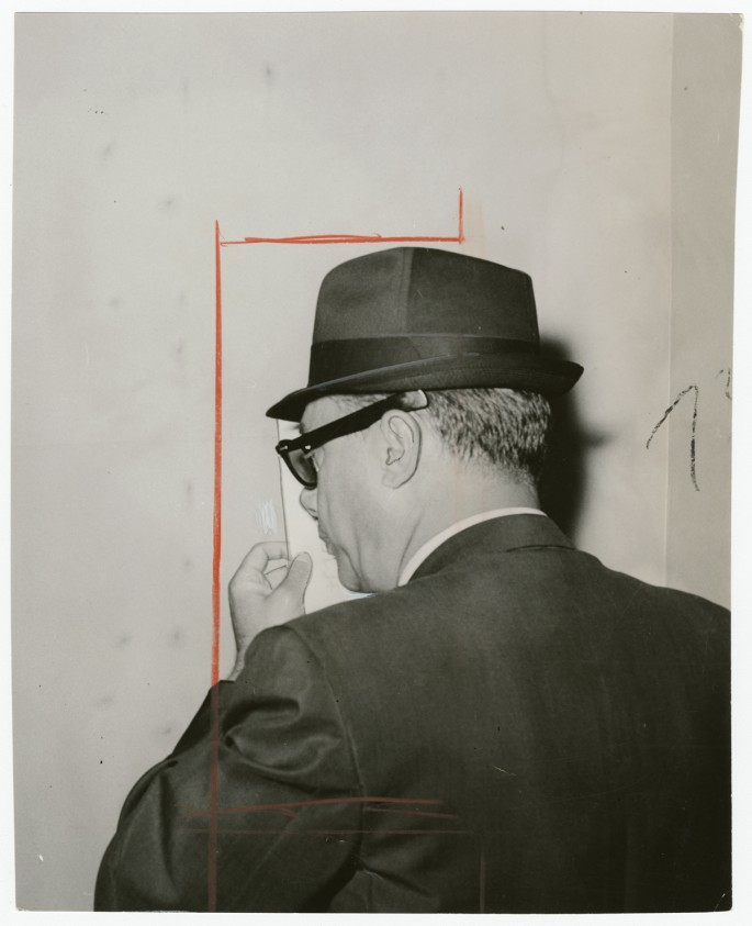 Unidentified Photographer, </span><span><em>Max Bluestein, Toronto Gambler</em>, </span><span>1947, Gelatin silver print, 9 x 7&quot;. Gift of The Globe and Mail newspaper to the Canadian Photography Institute of the National Gallery of Canada.