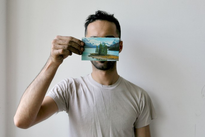 Photo credit: Manolo Lugo, image courtesy of the artist, </span><span><em>2.	Basil AlZeri, #7 from The Postcard Project II, digital photograph, 4 x 6 inches</em>, </span><span>2015