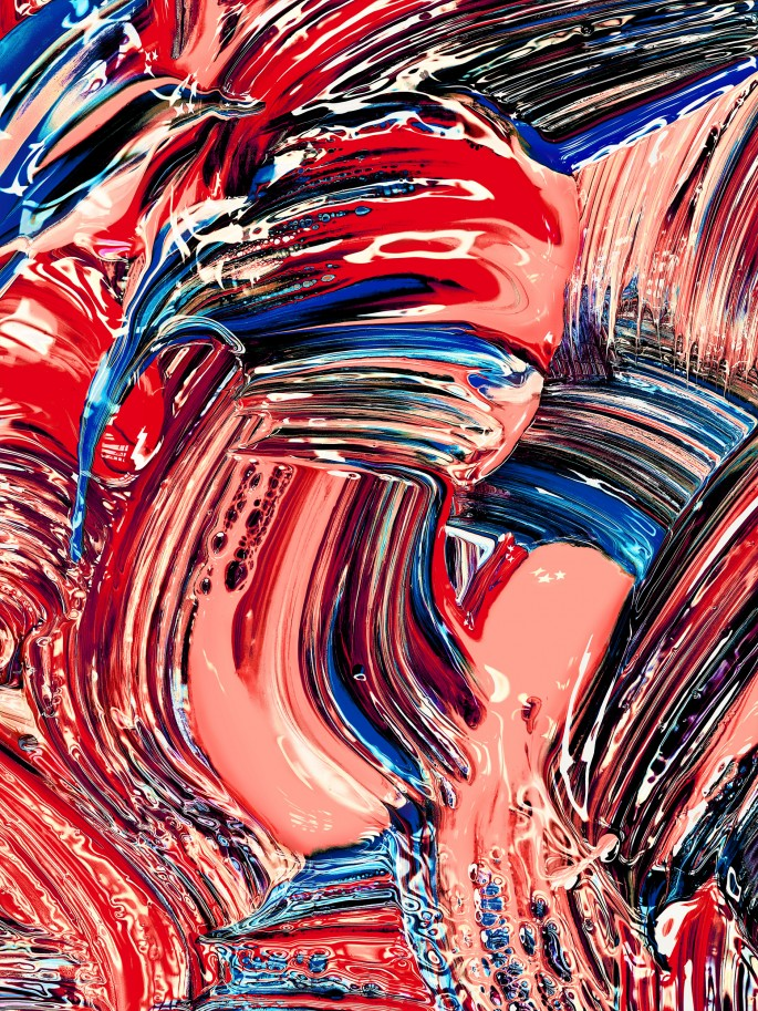 Jill Greenberg, </span><span><em>160128 Painting 0631</em>, </span><span>2016. Archival Pigment Print, 77 x 58&quot;. Courtesy of Bau-Xi Photo.