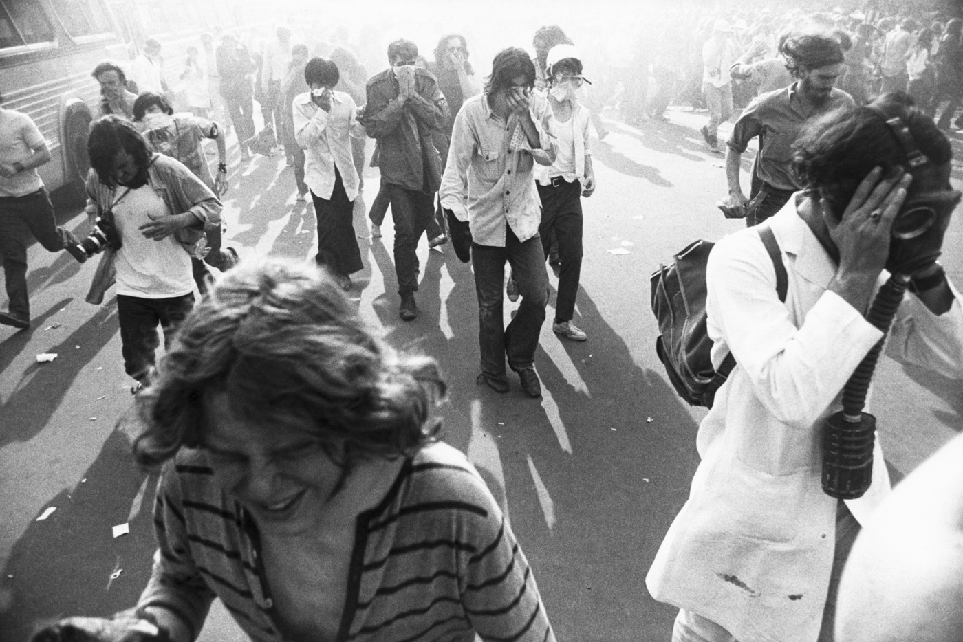 Garry Winogrand, </span><span><em>Kent State Demonstration, Washington, D.C.</em>, </span><span>1970. Gelatin silver print, 35.6 x 43.2 cm. Collection of the Art Gallery of Ontario. Purchase, with funds generously donated by Martha LA McCain, 2015. 2014/1341.